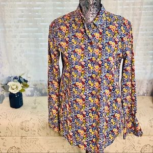 United Colors of Benetton Retro Floral Print Shirt